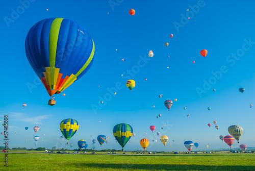 Mondial hot Air Ballon reunion in Lorraine France - 57485808