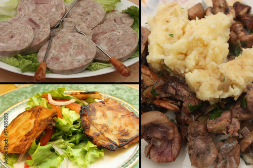 Cuisine Française -  Abats :Andouille Rognon