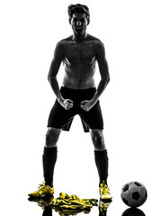 brazilian soccer football player young man standing defiance sil