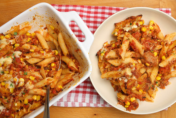 Baked Pasta with Tuna and Cheese