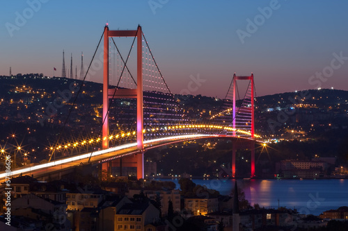 Foto op Aluminium Turkey Bosphorus Bridge, Istanbul