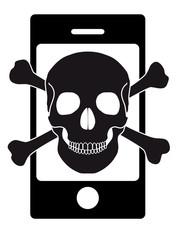 Pirate smartphone noir et blanc