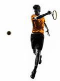 man tennis player silhouette