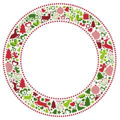 Rahmen aus weihnachtlichen Motiven