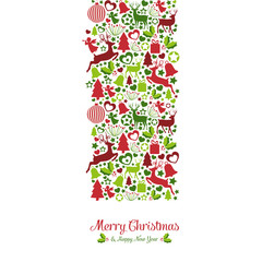 Merry Christmas mit Dekoration