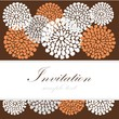 Wedding birthday card invitation with floral background, vector