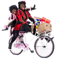 Zwarte Pieten are bringing presents