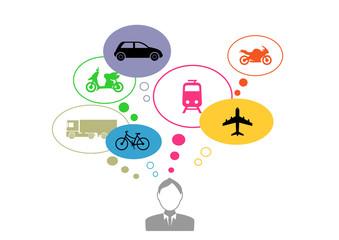 Réflexion sur les transport - Jeune Homme