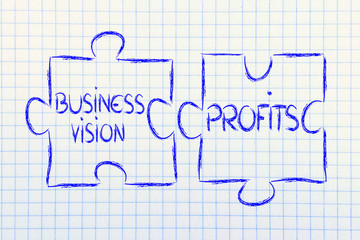 business vision and profits,jigsaw puzzle design