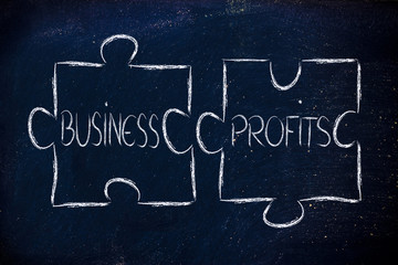 business and profits,jigsaw puzzle design