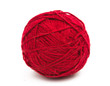 tangle of red thread isolated - 57492091