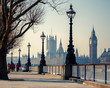 canvas print picture - Big Ben and Houses of parliament, London
