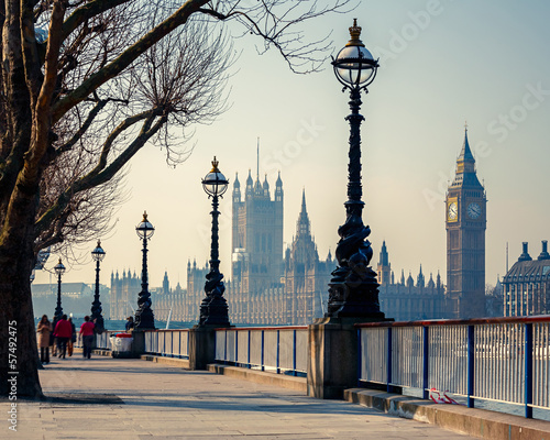 canvas print picture Big Ben and Houses of parliament, London