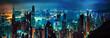 Leinwandbild Motiv Hong Kong panorama