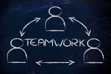 teamwork, design with group of collaborative co-workers