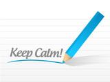 keep calm written message illustration design poster
