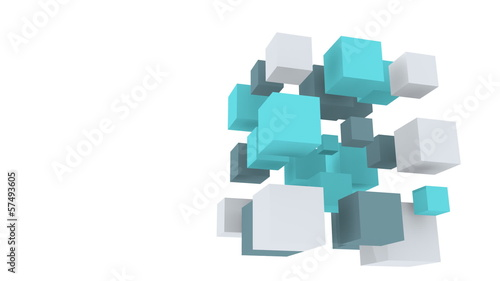 abstract cubes in rotation wuth alpha channel