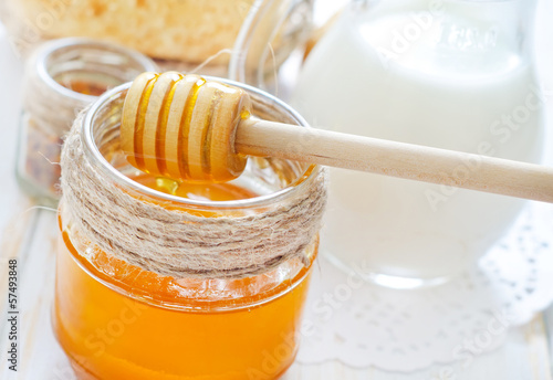 honey,bread and milk