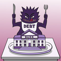Monster debt.