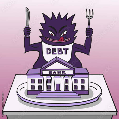 Monster debt.