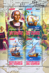 ship and Christophorus Columbus
