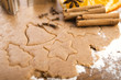 Baking ingredients for Christmas gingerbread