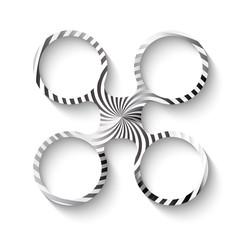 vector circular frames with ornament