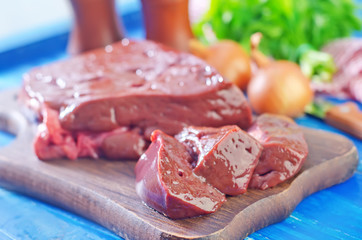 raw liver on board