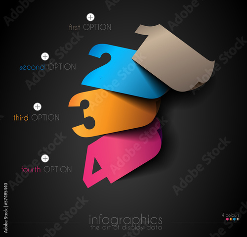 Infographic templated with paper numbers