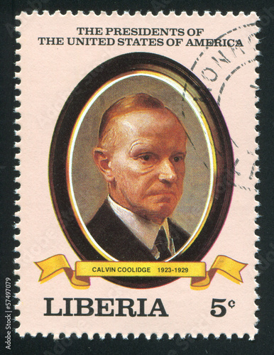 President of the United States Calvin Coolidge