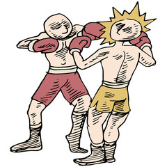 Boxers Fighting