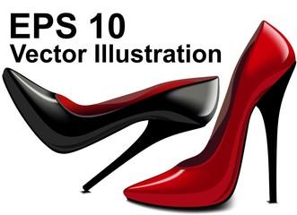 Красивая пара туфель, Векторная Иллюстрация