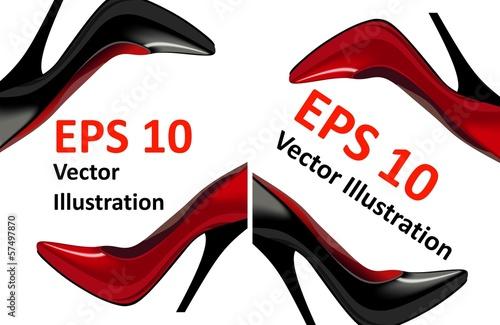 Плакаты с  пара туфель, Векторная Иллюстрация - 57497870