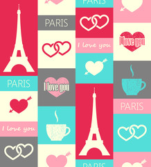 paris seamless pattern