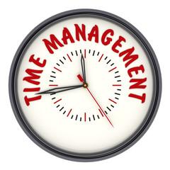 Time management. Часы с надписью