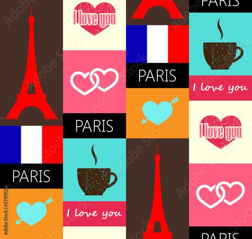 paris seamless pattern - 57498218