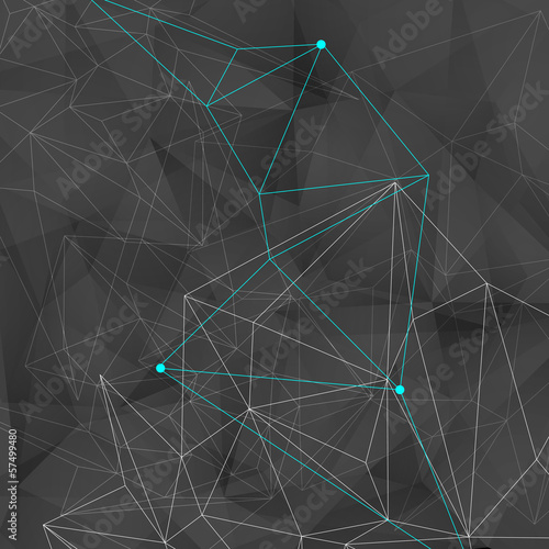 abstract background with black triangles