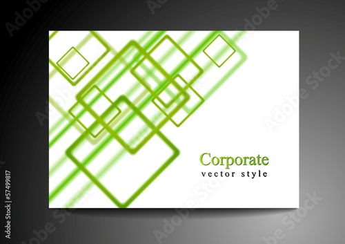 Bright green vector design