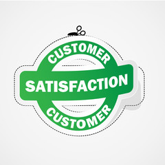 CUSTOMER SATISFACTION Marketing Sticker (label service quality)