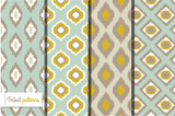 Retro ikat tribal seamless patterns
