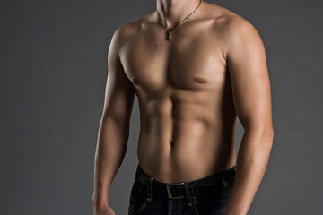 Muscular Male Torso - Stock Image