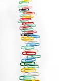 A row of colorful clips