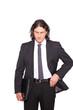 verzweifelter Mann im Anzug