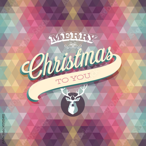 """Merry Christmas"" Poster. Vector illustration."