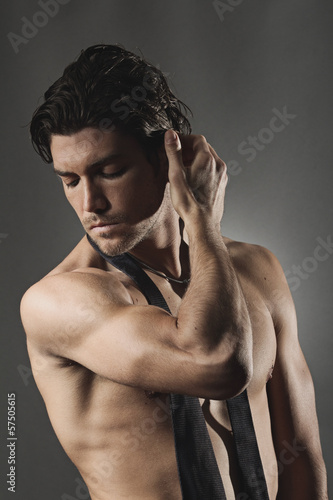 canvas print picture Studio shot of a sexy man