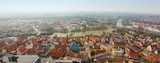 panoramic view from Ulm Munster church, Germany