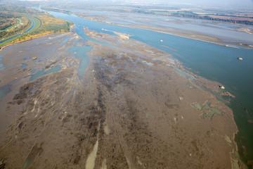 sediments in the Dam on the Danube river - Slovakia