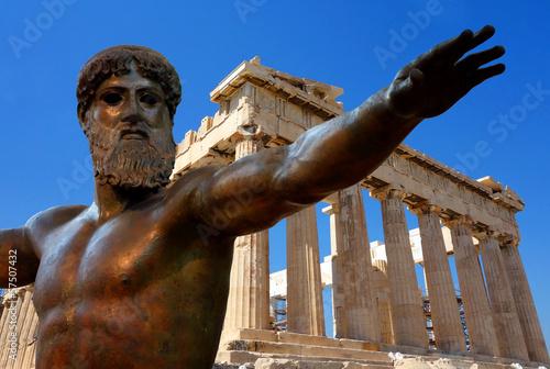 Deurstickers Athene Athènes et l'Acropole