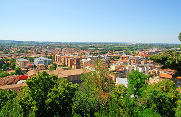 Italy, Cesena aerial view.
