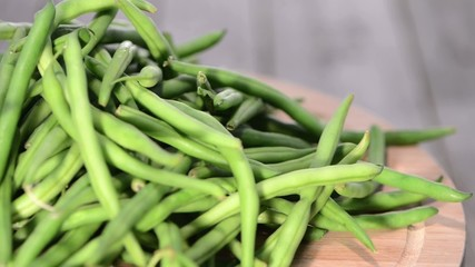 Loopable rotating Green Beans (HD video)